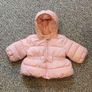 Baby Gap Girls Light Pink Winter Coat